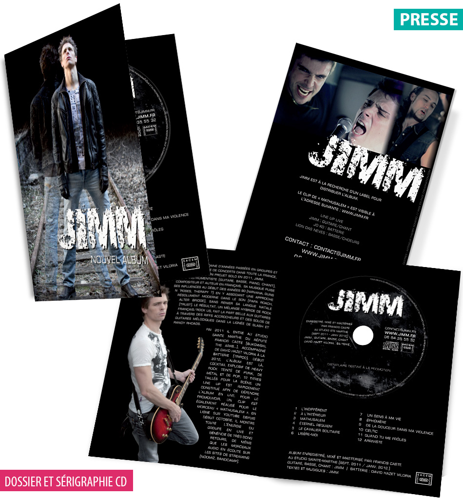 Dossier de presse + CD Jimm