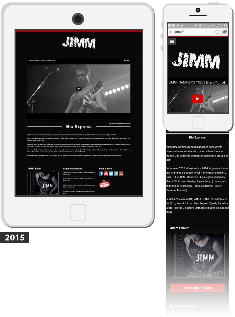 Site Jimm artiste Rock