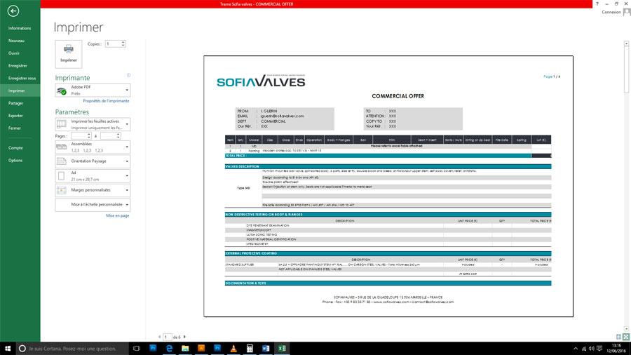 SofiaValves Excel