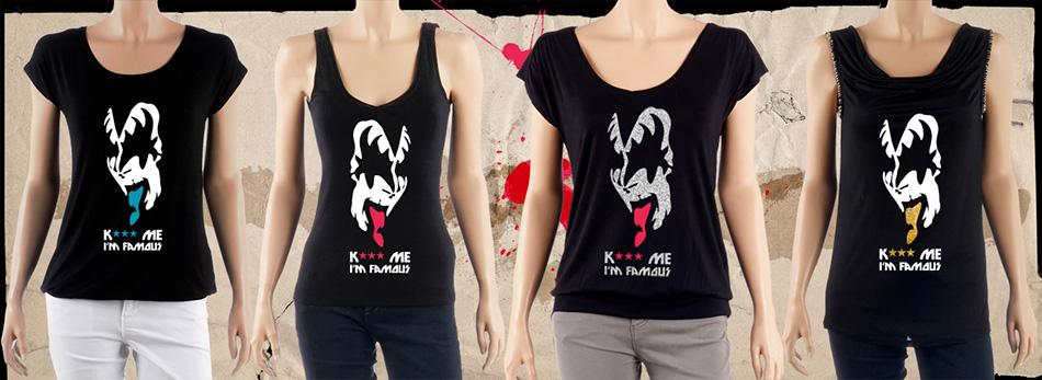 Kiss simulation T-shirts